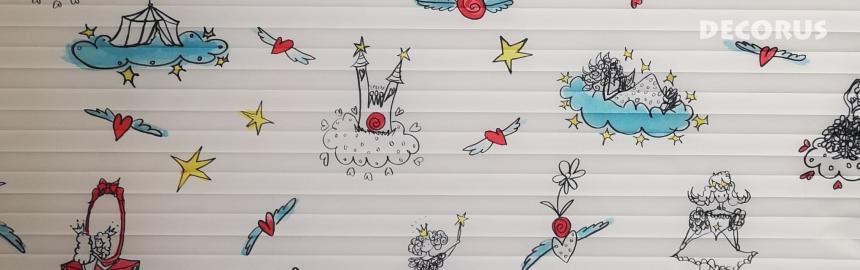 Pleated blinds and shades Decorus Kiki za deklice