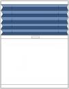 Plise pravokotne oblike , regulacija v eno smer, dodan alu profil
