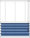 """""""plise"""" pravokotne oblike, regulacija s poteznimi vrvicami od spodaj navzgor"""