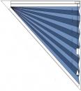 trikotno plise senčilo