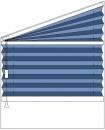 """""""plise zavesa"""" trapezne oblike, regulacija z vrvico na levi strani"""